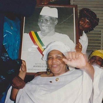 Mawina Kouyate with Sekou Toure photograph.